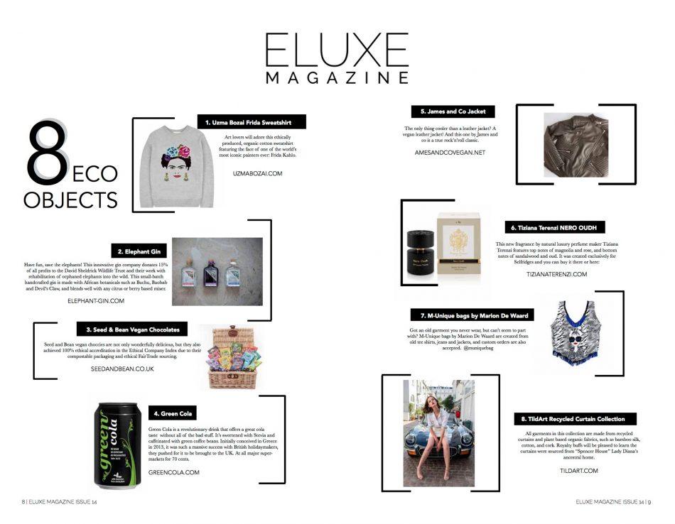 Uzma Bozai featured in Eluxe Magazine
