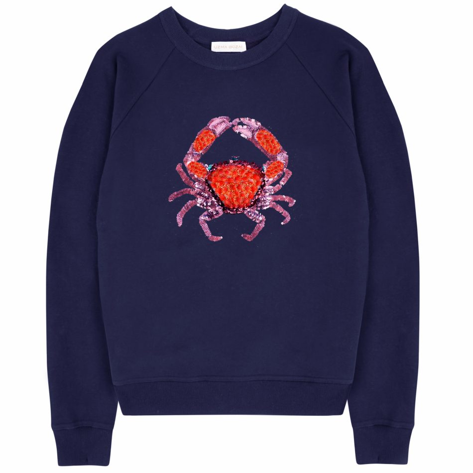 Cora Crab Sweatshirt – Navy