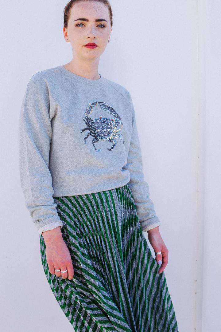 Cora Crab Sweatshirt – Grey