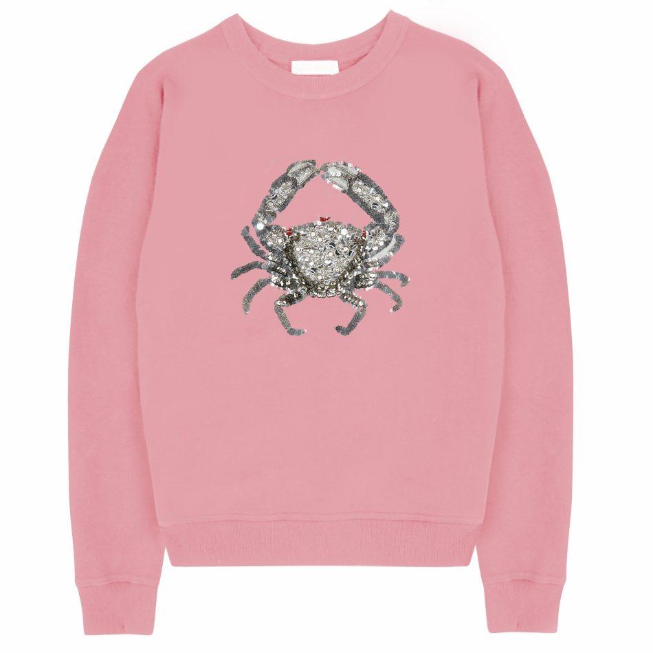 Cora Crab Sweatshirt - Pink